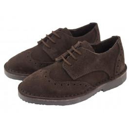 ce5cbbe48 Zapatos blucher niño niña picados marrón