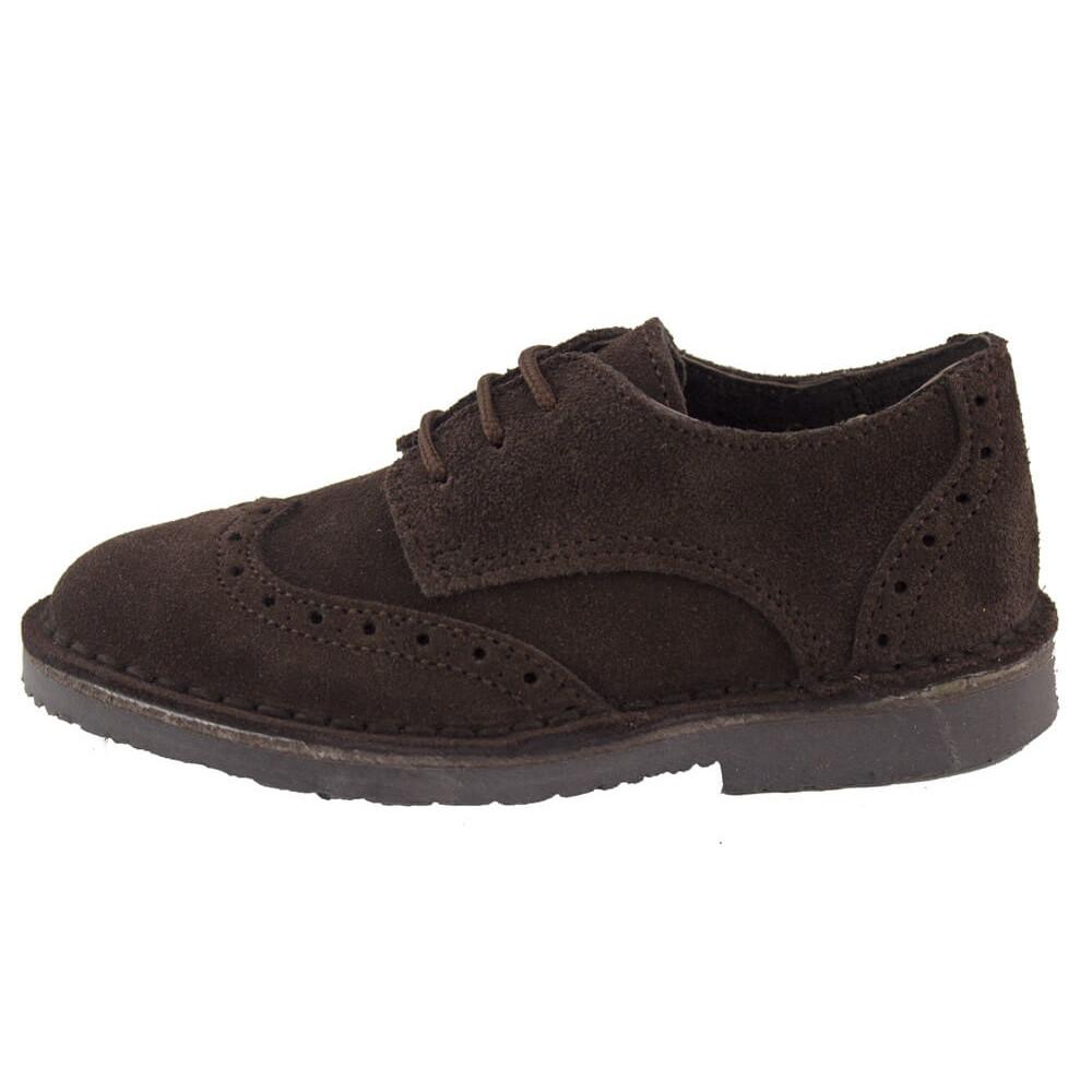 0ba353b2b90 Zapatos blucher niño niña picados marrón