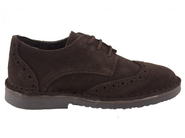 Zapatos blucher niño niña picados marrón