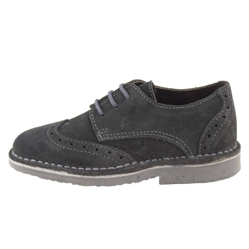 f515b5303 Zapatos blucher niño niña picados gris