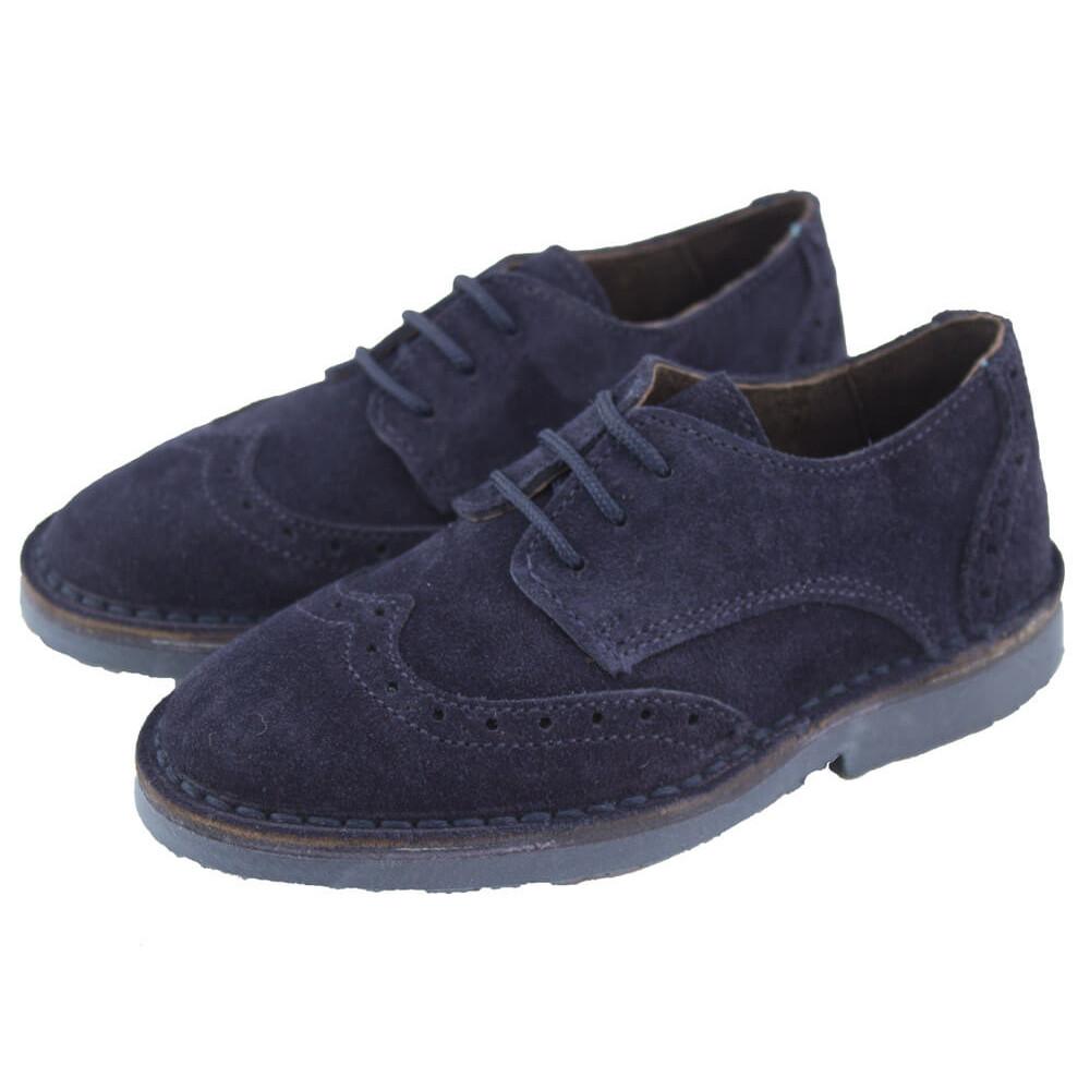 8badc3db266 Zapatos blucher niño niña picados azul marino