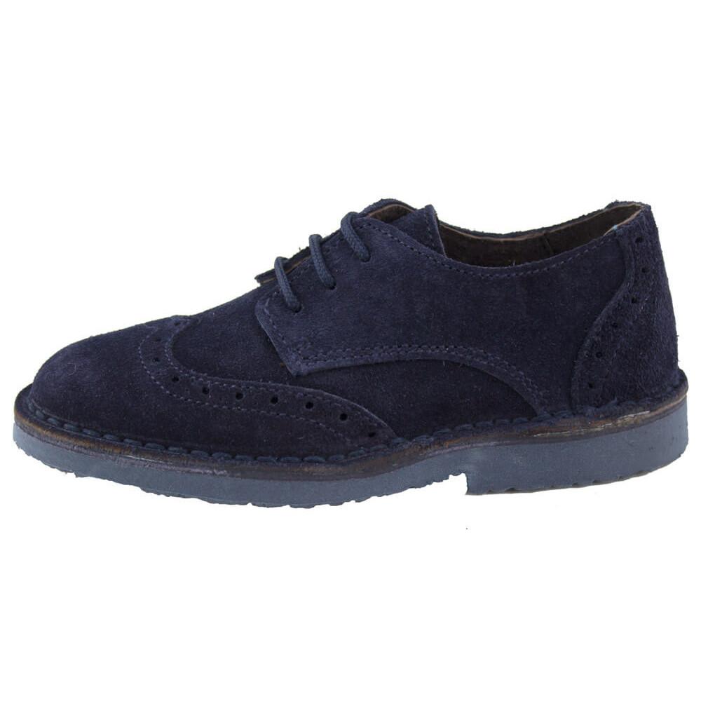 089add81a Zapatos blucher niño niña picados azul marino
