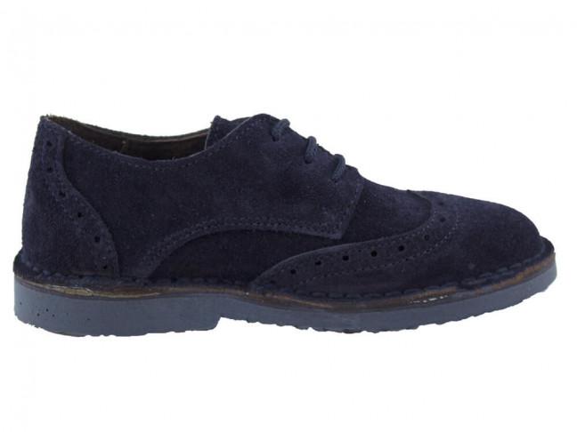 Zapatos blucher niño niña picados azul marino