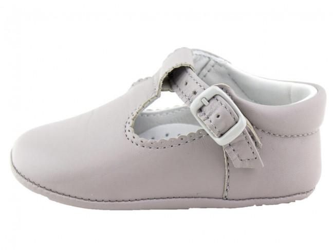 Zapatos Pepitos bebé piel gris claro
