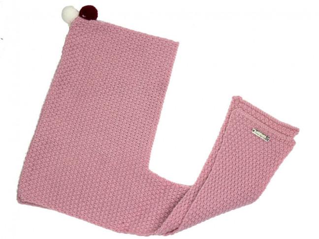 Capucha bufanda Niños con miniborlas rosa