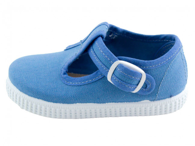 Zapatos Pepitos lona niños Tenis AZUL ACERO