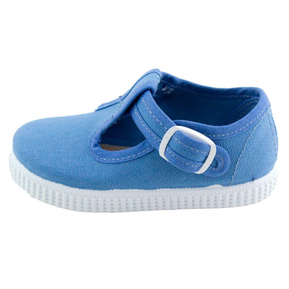 9966f0924 Zapatos Pepitos lona niños Tenis AZUL ACERO