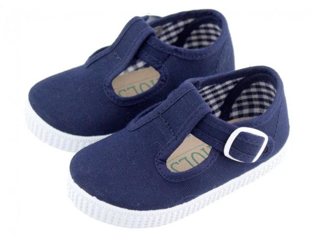 Zapatos Pepitos lona niños Tenis AZUL MARINO