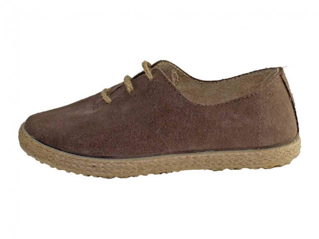 Zapatos Blucher Niña Niño Serraje cuerda Topo