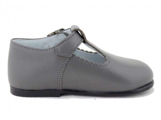 Zapatos Pepitos Bebé Niño Piel gris