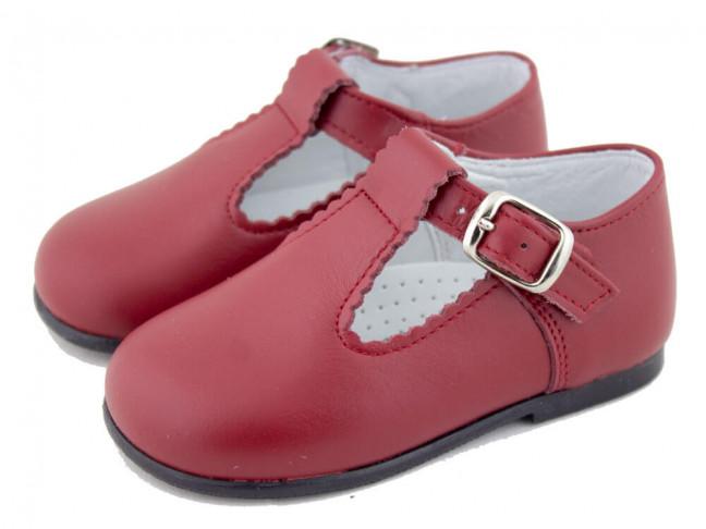 Zapatos Pepitos Bebé Niño Piel rojo