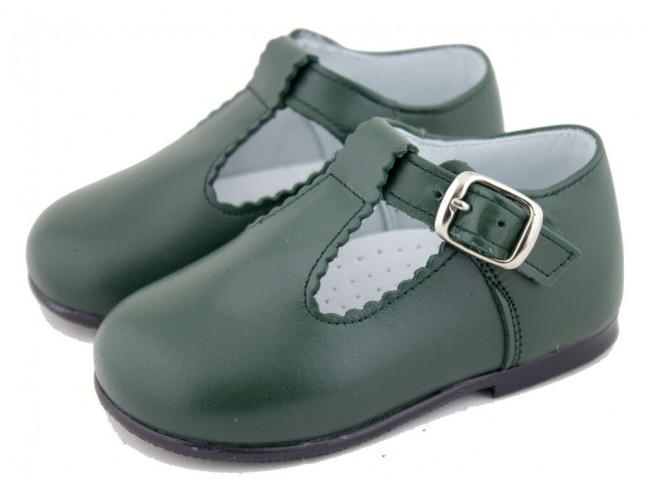 Zapatos Pepitos Bebé Niño Piel verdes