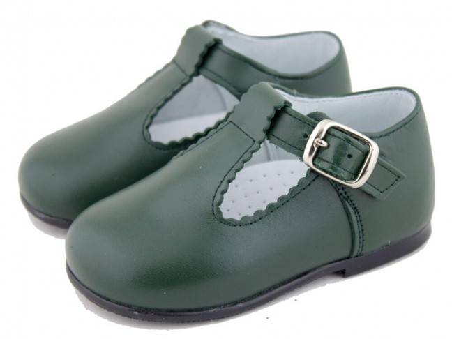 421b6764f Zapatos Pepitos Bebé Niño Piel verdes
