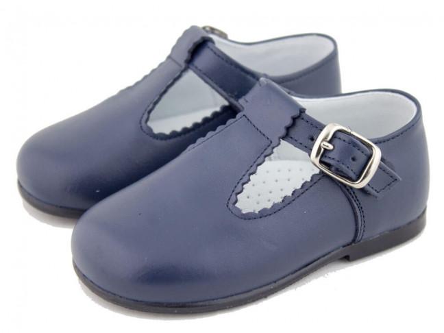 Zapatos Pepitos Bebé Niño Piel azul marino