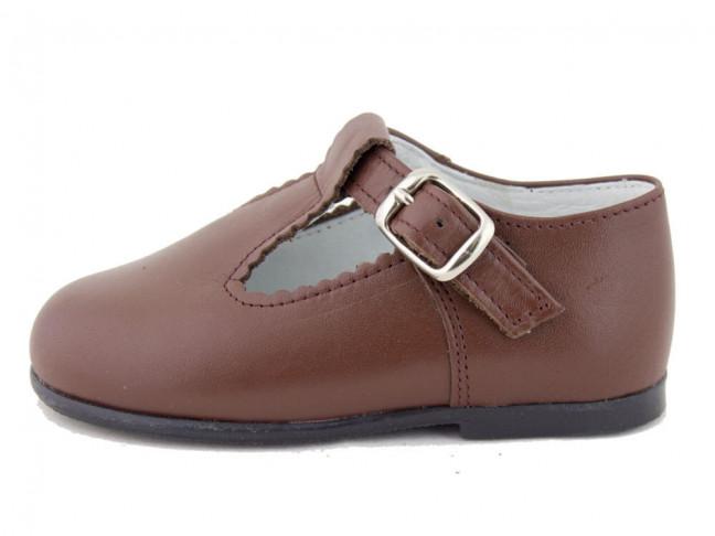Zapatos Pepitos Bebé Niño Piel marrones