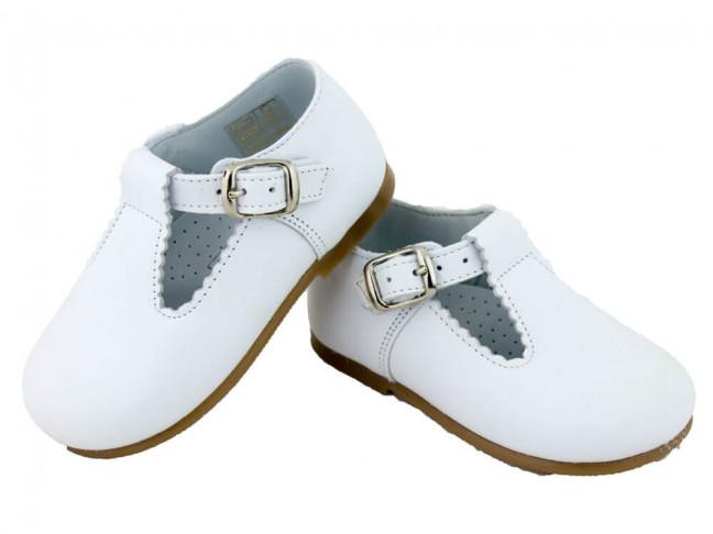 Zapatos Pepitos Bebé Niño Piel blanco