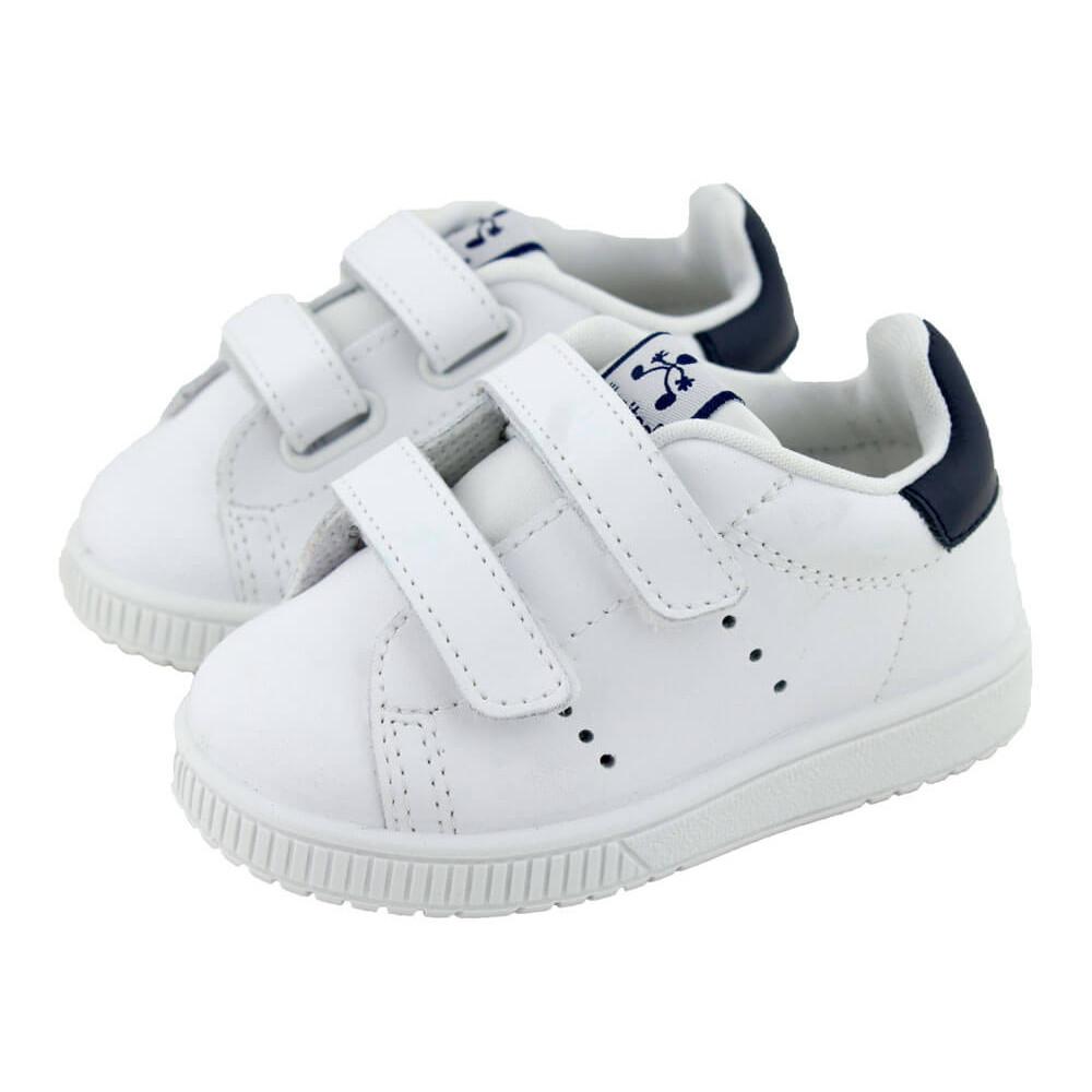 e4a9fa32649aa Zapatillas Deporte Niño Niña piel lavable detalle azul blanco