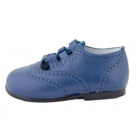 Inglesito piel Niño azul francia