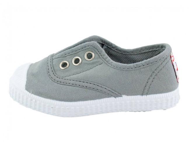 Zapatillas bambas niño niña puntera lavadas gris claro