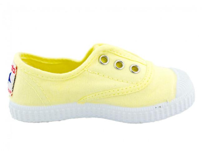 Zapatillas bambas niño niña puntera lavadas amarillo