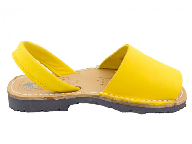 Menorquinas niño niña Nobuck amarillas