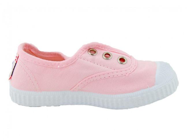 Zapatillas bambas niño niña puntera lavadas rosa claro