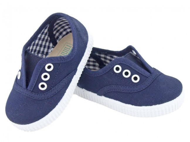 Zapatillas Bambas niños con elástico azul marino