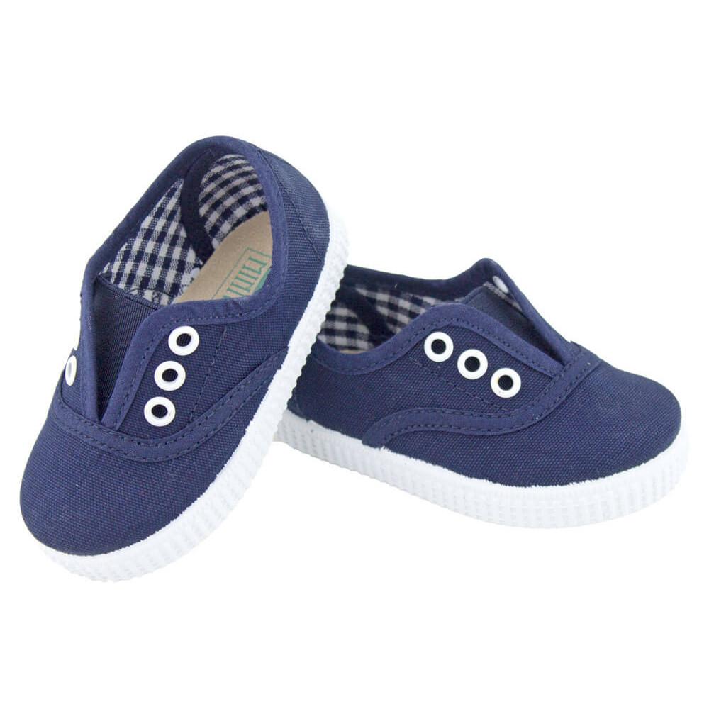 01d79baa41a Zapatillas Bambas niños con elástico azul marino