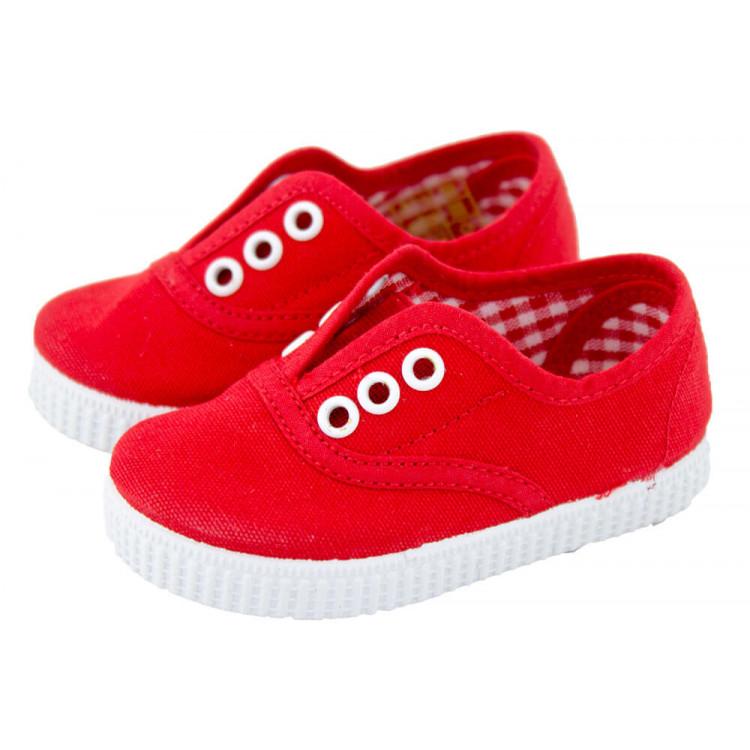 Zapatillas Bambas niños con elástico rojas