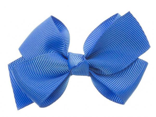 Lazos niña 7x5cm nudo Grosgrain azul francia