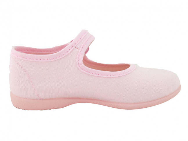 Merceditas niña lona al tobillo rosas claro