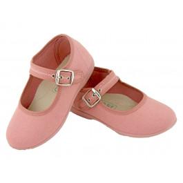c43647a7 Merceditas niña lona al tobillo rosa antique