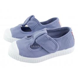 82b6182fa75 Zapatos Pepitos lona puntera azules