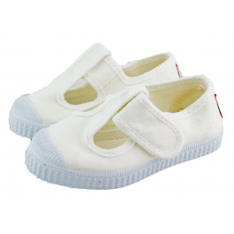 Zapatos Pepitos lona puntera blancos