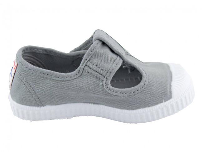 Zapatos Pepitos lona puntera grises