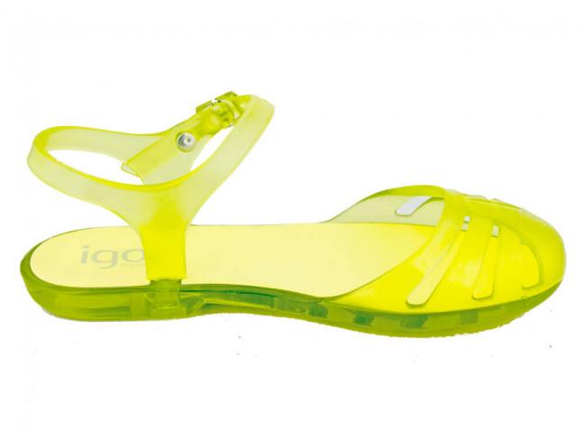 Sandalias Cangrejeras niña IGOR amarillas