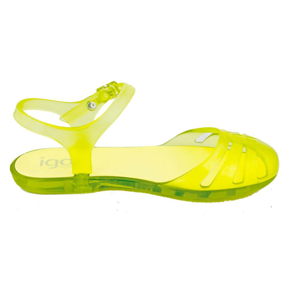 e01e15032 Sandalias Cangrejeras niña IGOR amarillas