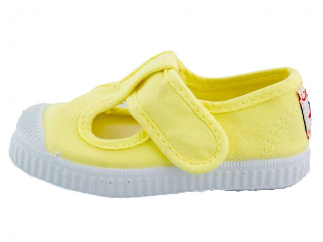 Zapatos Pepitos lona puntera amarillas