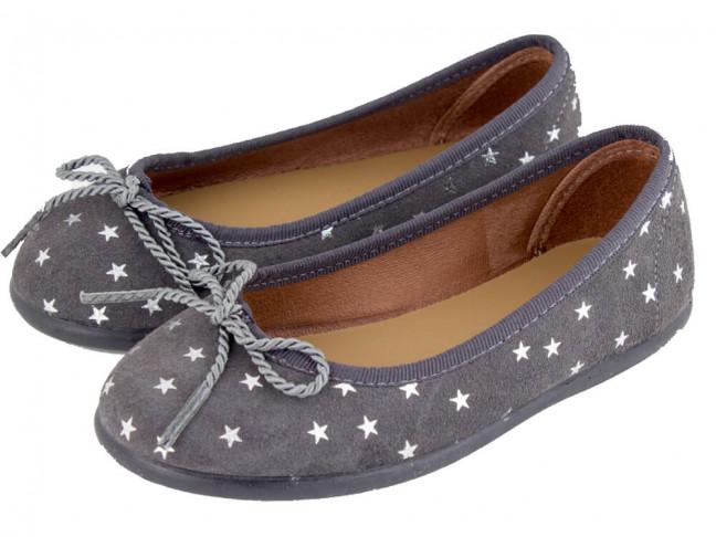 Bailarinas niña serraje estrellas gris