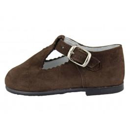 Zapatos pepitos Niños Serraje marrones