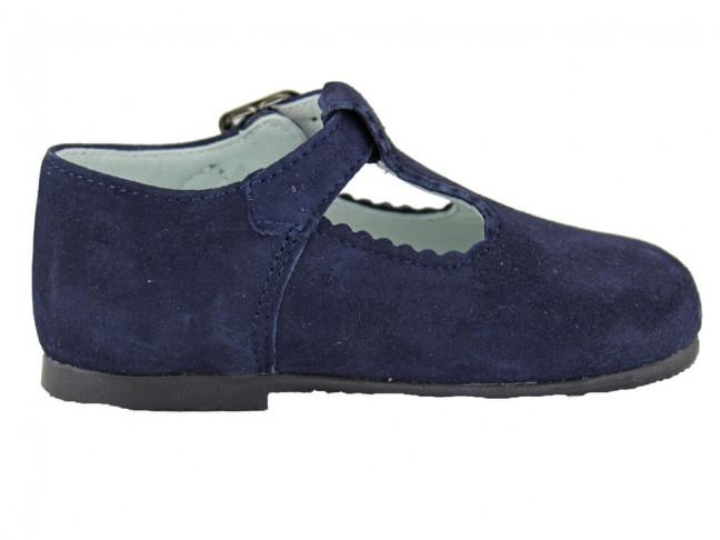 Zapatos pepitos Niños Serraje azul marino