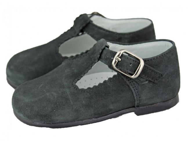 Zapatos pepitos Niños Serraje grises
