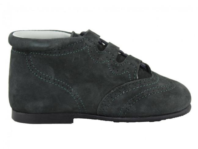 Zapatos Inglesitos Bota Niño Niña Piel Grises