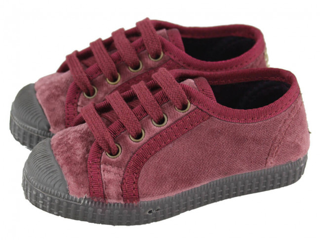 a pies en comprar colección completa Zapatillas niño niña terciopelo puntera