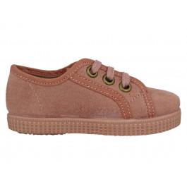 Zapatillas niño niña cordones serratex rosas