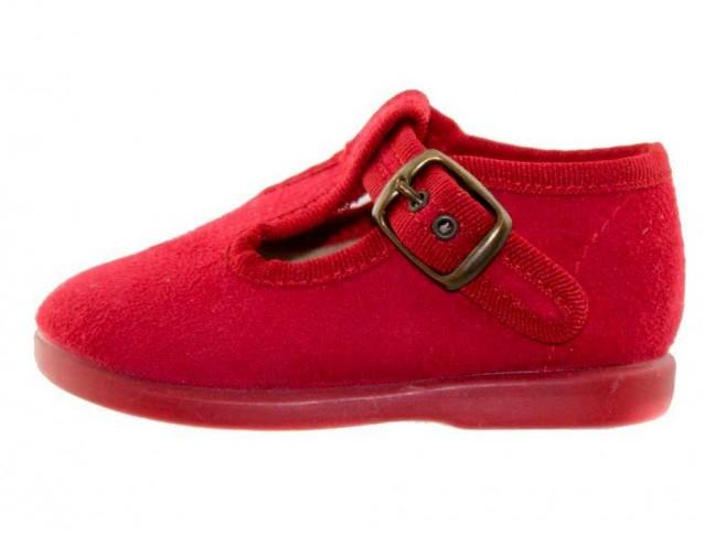 Zapatos pepitos niños serratex rojo