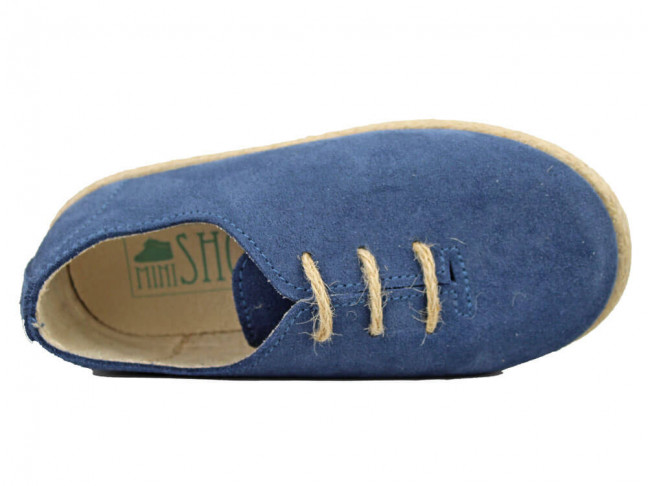 Zapatos Blucher Niña Niño Serraje cuerda Azul jeans
