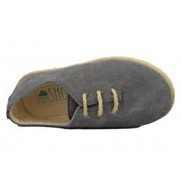 Zapatos Blucher Niña Niño Serraje cuerda Grises
