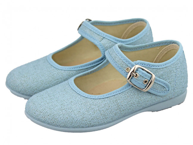 Merceditas niña al tobillo Caba azules