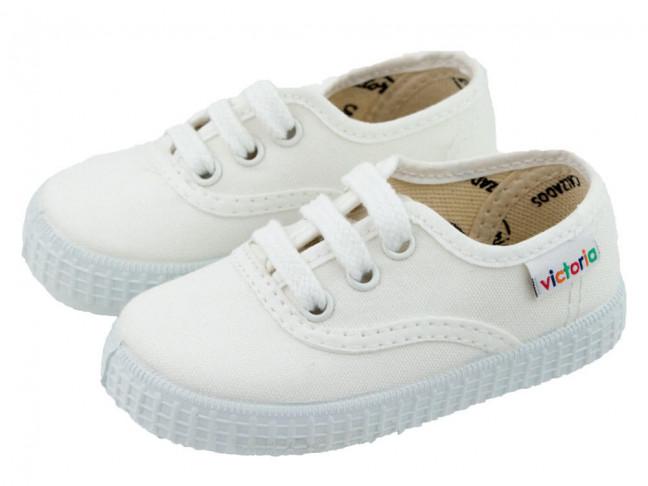 Zapatillas Lona Bambas Victoria Blancas